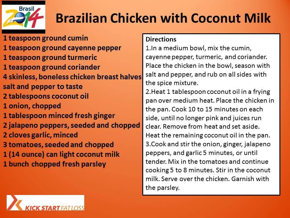 BRAZILIAN CHICKEN WITH COCONUT MILK