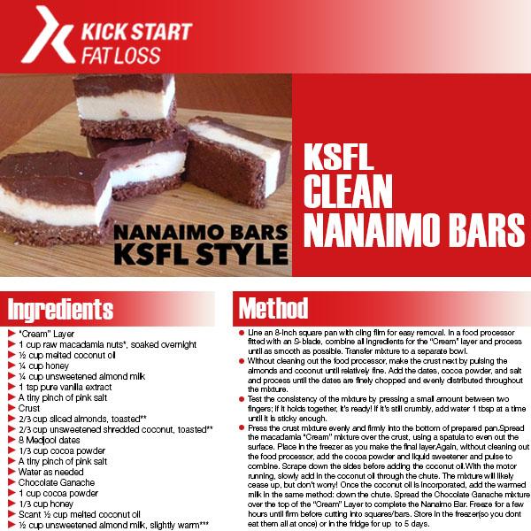 CLEAN NANAIMO BARS