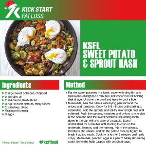 SWEET POTATO AND SPROUT HASH