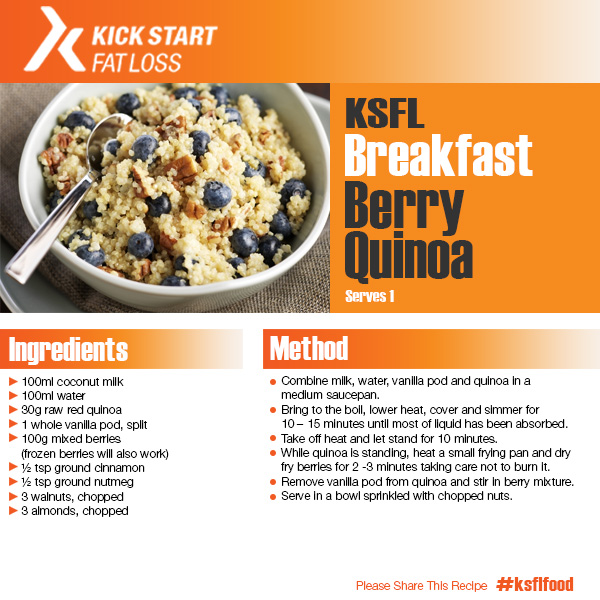 breakfast berry quinoa