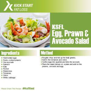 egg prawn avocado salad