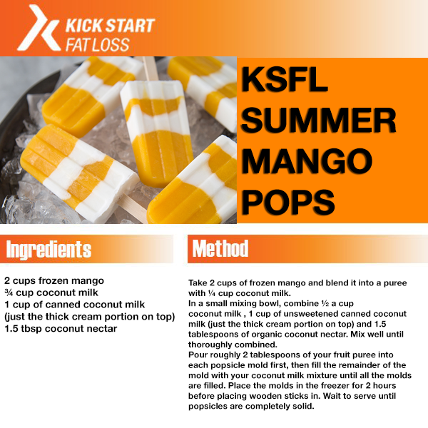 summer mango pops