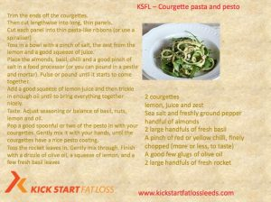 COURGETTE PASTA AND PESTO