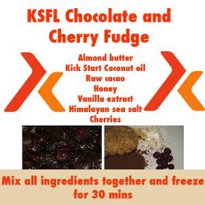 choco cherry fudge