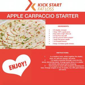apple carpaccio starter v day
