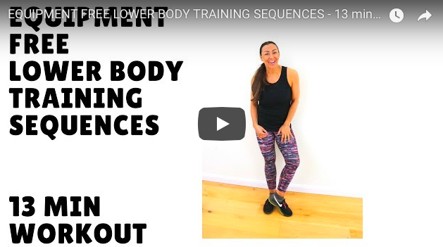 EQUIPMENT FREE LOWER BODY WORKOUT
