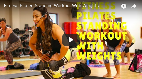 PILATES STANDING WORKOUT WITH WEIGHTS